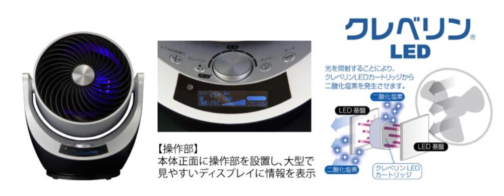 ドンキ「空間洗浄機能付 3Dスイングサーキュレーター」情熱価格+PLUS