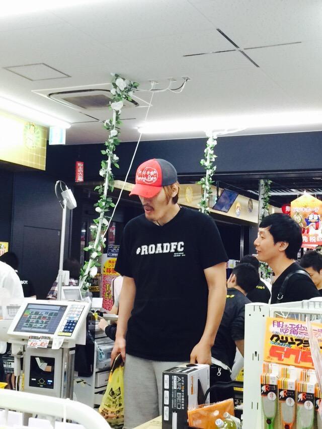 MEGAドンキ新世界店にてチェホンマン(Choi Hong Man)を発見!格闘家/俳優